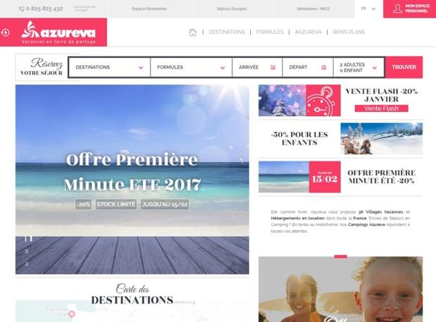 Afin de satisfaire davantage ses clients et de leur offrir plus de visibilité et de facilité à naviguer, le groupe a entièrement repensé son site Internet - DR : Azureva
