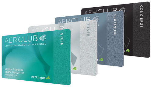 Le programme AerClub comporte 4 paliers différents - DR : Aer Lingus