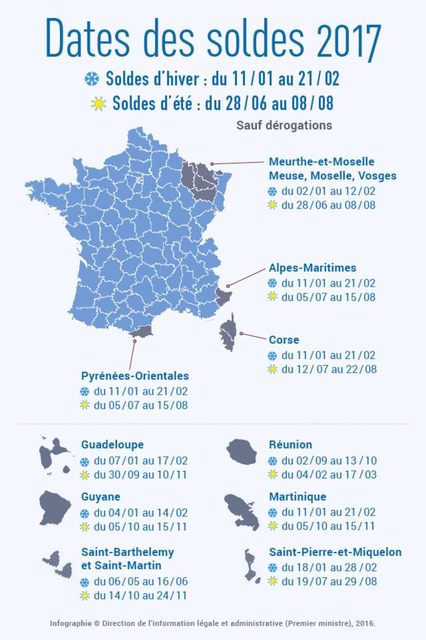 Soldes d'hiver en France : le calendrier région par région