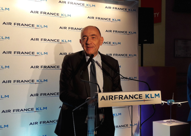 Jean-Marc Janaillac, le PDG d'Air France-KLM, lors des vœux à la presse - DR : LAC