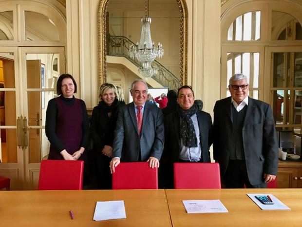 Les partenaires de l'opération : APST, Travel Pro, APG et LEV /photo dr