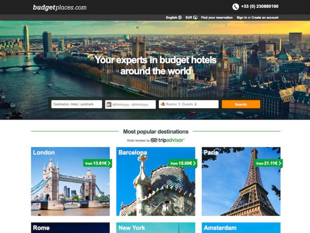 La plateforme travaille avec 7 500 hôtels, auberges, chambres d'hôtes et appartements dans le monde entier (c) Capture d'écran budgetplaces
