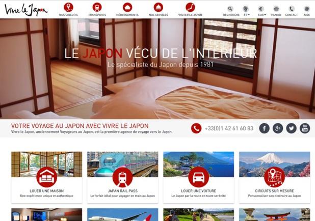 Le site Vivre le Japon recense une grande quantité d'informations sur le pays - Capture écran