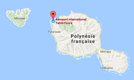 La Polynésie française est placée en état de calamité naturelle - DR : Google Maps