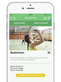 Center Parcs : nouvelle version de l'application mobile