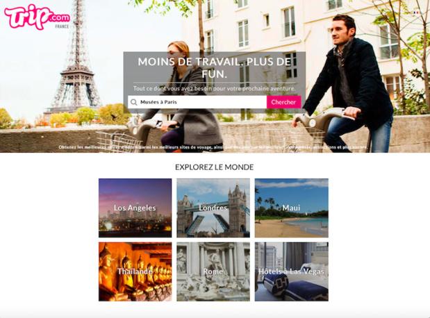 Trip.com est une application de planification de voyages et de découverte  (c) Capture Trip.com/fr