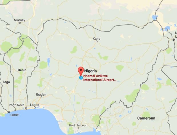 Le Quai d'Orsay recommande aux ressortissants français qui ont prévu de se rendre à Abuja de reporter leur voyage pendant la fermeture de l'aéroport - DR : Google Maps