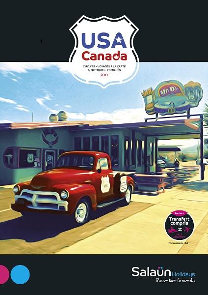 La couverture de la brochure de Salaün Holidays dédiée aux USA et au Canada - DR : Salaün Holidays