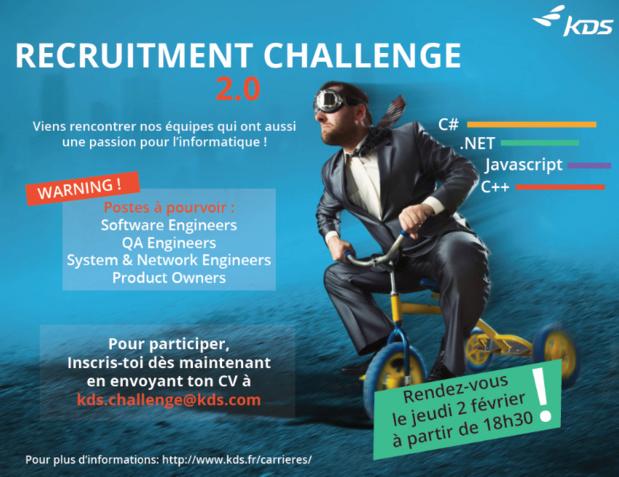"""L'affiche de la prochaine édition du """"Recruitment Challenge"""" de KDS - DR : KDS"""