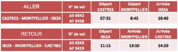 HOP! Air France s'envole vers Ibiza depuis Castres et Montpellier