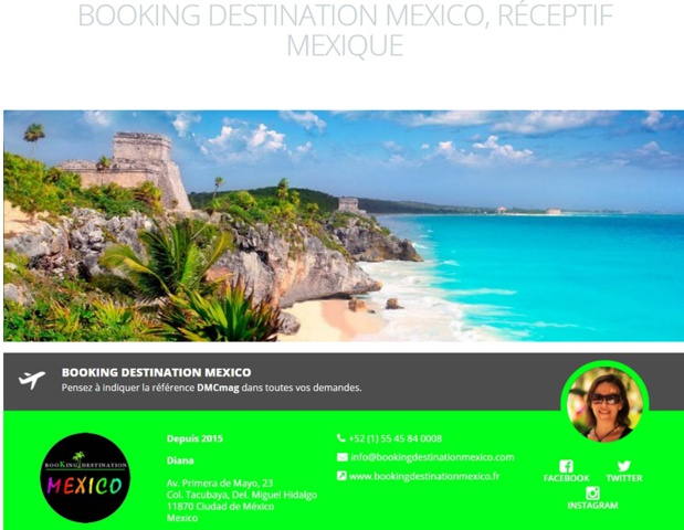 Booking Destination Mexico, spécialiste du Mexique
