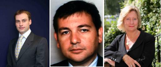 Franck Sibille, Michel Checoury et Diana Banks