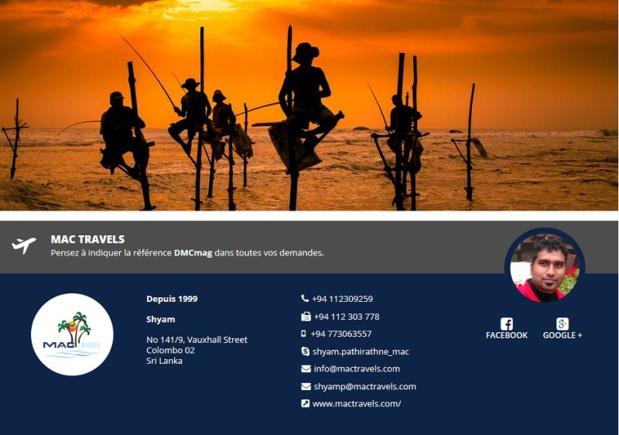 Mac Travels, réceptif Sri Lanka