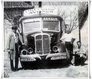 L'entreprise a débuté son activité avec le transport des voyageurs sur la ligne Fontaine de Vaucluse - l'Isle sur la sorgue - Avignon en 1936.
