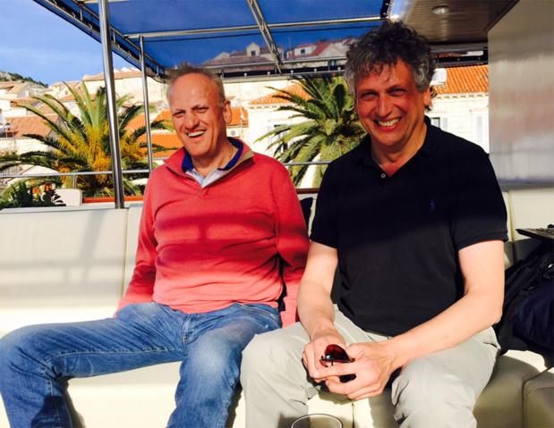 Tony (à gauche) et Helmut (à droite) Gschwentner, les deux dirigeants de Travel Europe vont lancer un 3ème navire de croisières en Croatie à partir du 28 avril 2017 - Photo JdL