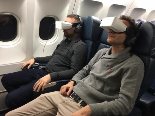 Une expérience en immersion avec les lunettes Skylights (c) XL Airways