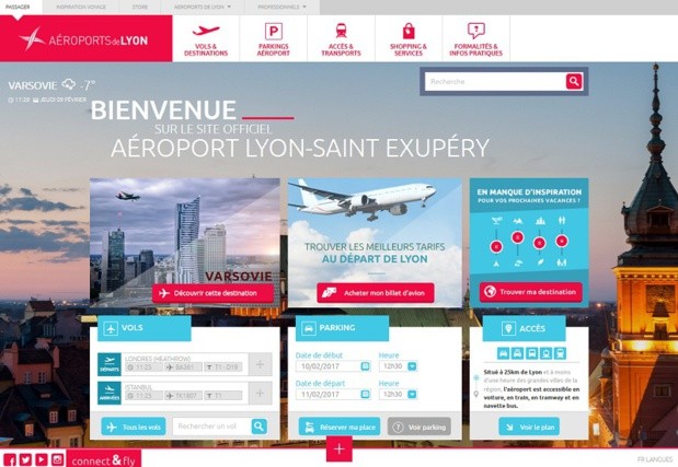 Le site web de l'aéroport de Lyon- Saint Exupéry - DR Capture écran