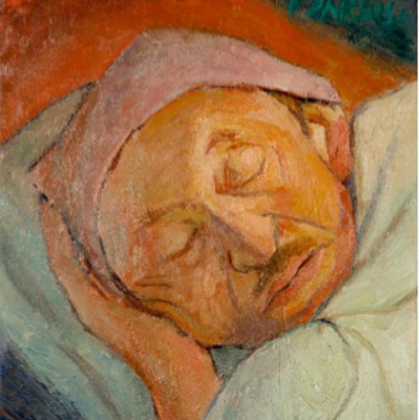 """""""Le sommeil du père"""", peinture de Pierre Parsus"""