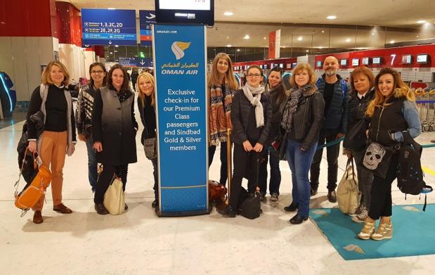 Le groupe des agents de voyages qui ont pu découvrir le Sultanat d'Oman version Beachcomber Tours - DR
