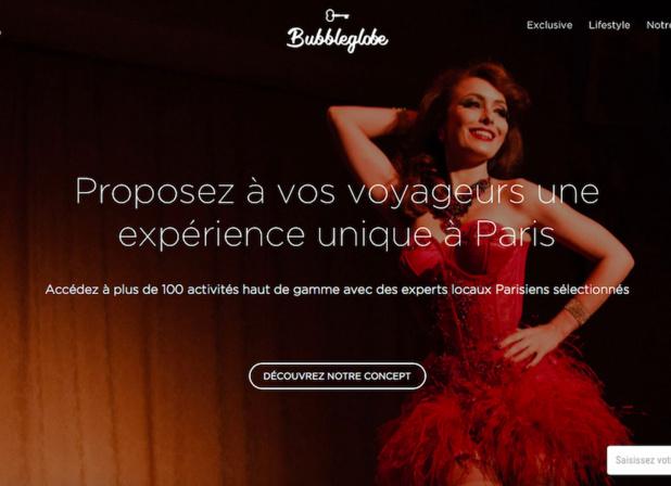 BubbleGlobe, une plateforme touristique qui développe des expériences haut de gamme et immersives à Paris à destination des professionnels du voyage et des entreprises.(c) capture BubbleGlobe