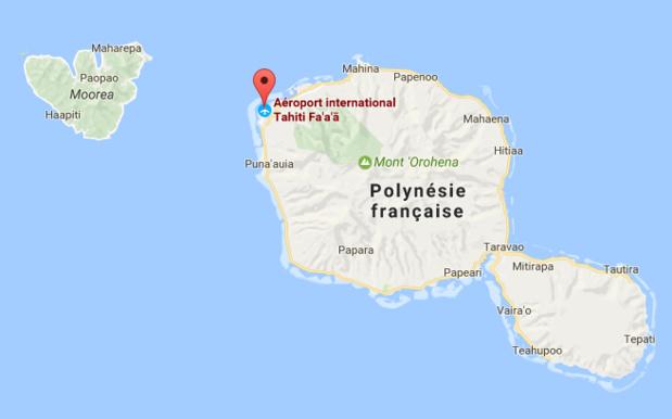 L'aéroport de Tahiti Faa'a est fermé à cause des intempéries en Polynésie Française - DR : Google Maps