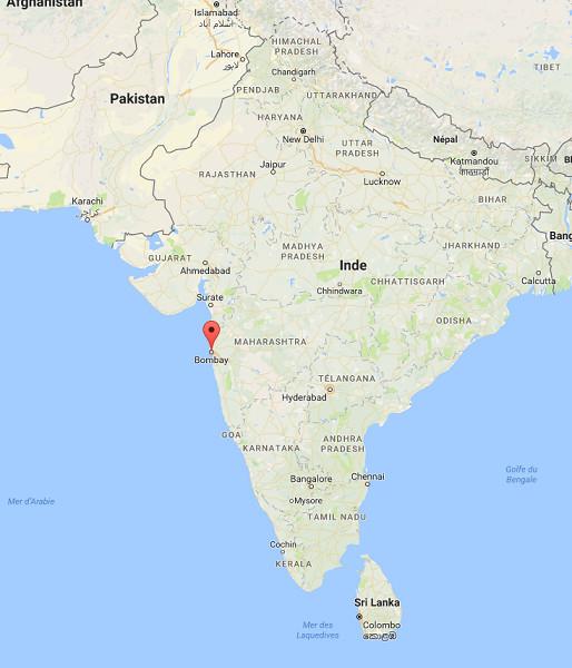 L'élection du conseil municipal de Bombay est prévue pour mardi 21 février 2017 - DR : Google Maps
