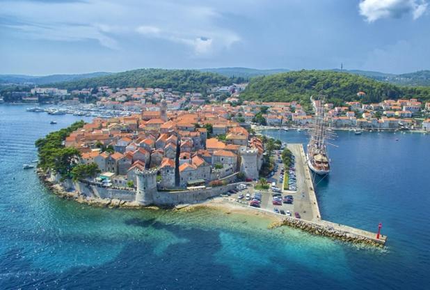L'île de Korcula dans le sud du pays. Photo : ONT Croatie – Ivo Biocina.