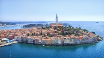 La ville de Rovinj en Istrie. Photo : ONT Croatie – Ivo Biocina.