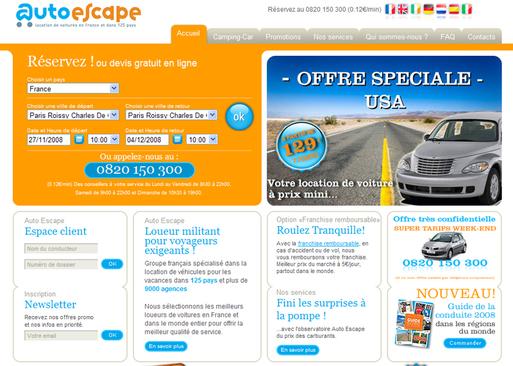 Auto Escape : chiffre d'affaires en hausse de 29%