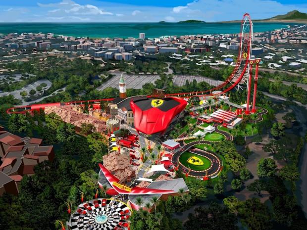 Le 7 avril prochain, Ferrari Land, le premier parc d'attractions européen consacré à Ferrari, ouvrira ses portes à Port Aventura - DR : Port Aventura
