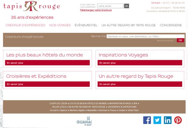 Travel & Co et Secrets de Voyages ont présenté une offre de reprise pour Tapis Rouge, ainsi que plus surprenant Catena Buciuni ex compagne de Didier Munin - Capture écran