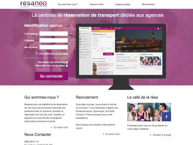 Les 3 600 agences de voyages utilisant les services de Resaneo pourront profiter de cette nouvelle fonctionnalité sur tous les trajets éligibles (c) Capture d'écran Resaneo