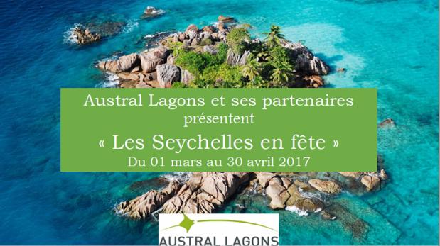 """L'opération """"Les Seychelles en fête"""" se poursuit jusqu'au 30 avril 2017 - DR : Austral Lagons"""
