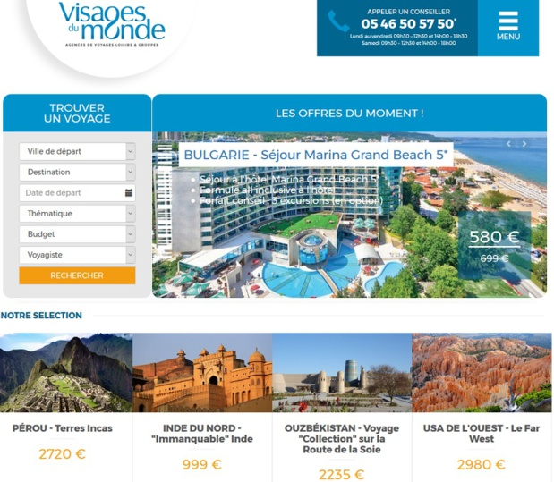 Le nouveau site Internet Visages du Monde déployé par le groupe Le Vacon - DR