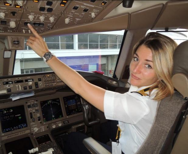 Aude Lemordant, pilote 777 d'Air France - Photo DR Air France