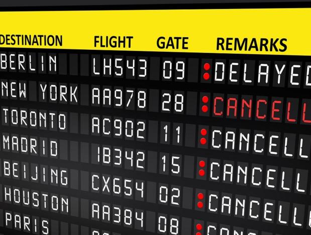 Les compagnies aériennes commencent à annoncer la liste des vols annulés pour la journée du mercredi 8 mars 2017 - Photo : adrian_ilie825-Fotolia.com