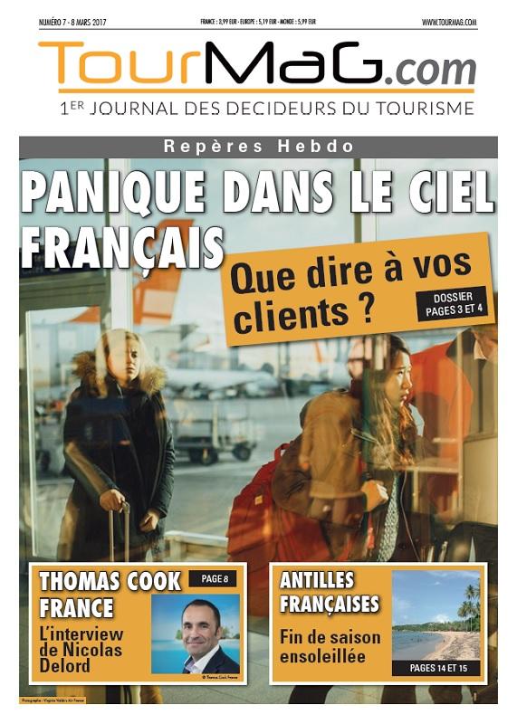 Cliquez sur la couverture du 7e numéro de Repères Hebdo pour vous abonner - DR : TourMaG.com