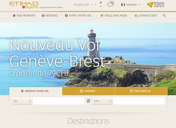 Etihad Regional va lancer une nouvelle ligne entre Genève et Brest - DR capture écran