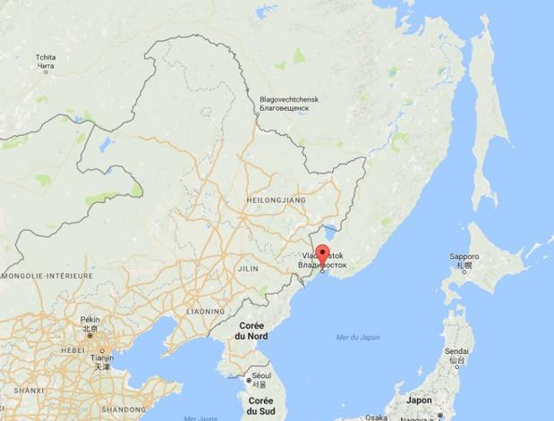 e-visa Russie : Un point d'entrée unique sera mis en place pour les visiteurs internationaux : au port franc (zone portuaire bénéficiant d'un régime particulier de douane et d'impôt) de Vladivostok - DR capture écran Google Map