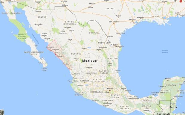 Le Quai d'Orsay met en garde les voyageurs sur les affrontements entre groupes criminels dans 3 états du pays : l'Etat de Sinaloa, l'Etat de Veracruz et en Basse Californie du Sud. - google Map