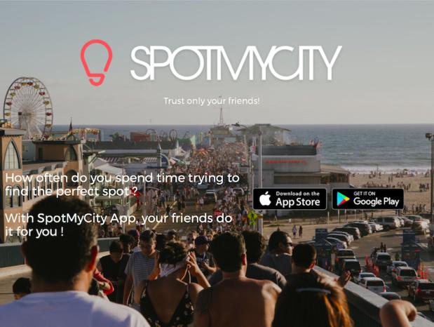 SpotMyCity permet aux voyageurs de trouver, sur une application mobile gratuite, des lieux recommandés par des gens de confiance, famille et amis. (c) SpotMyCity