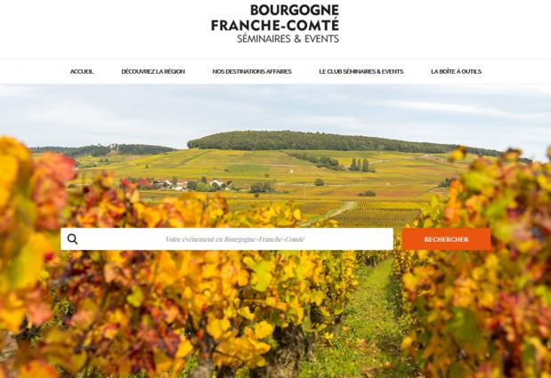 Le nouveau site de la région Bourgogne-Franche-Comté - DR
