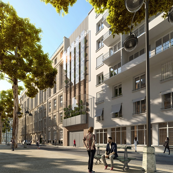 Le site où l'hôtel va être construit, avenue de Saxe dans le 7e arrondissement de Paris - Photo : Hilton Hotels & Resorts