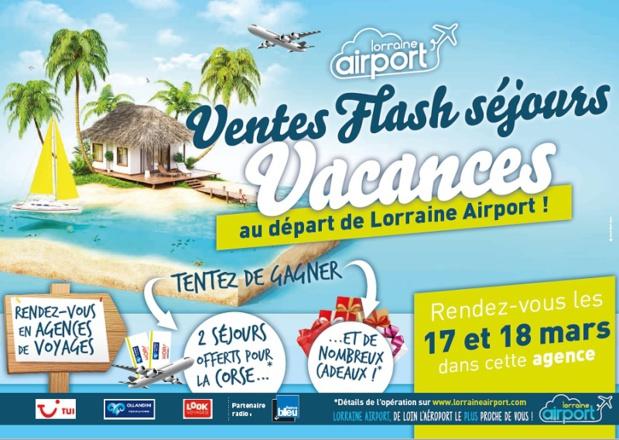 L'opération ventes flash séjours vacances sera organisée les 17 et 18 mars 2017 - DR