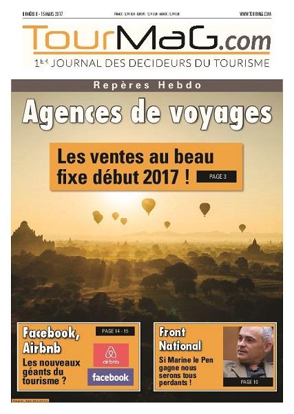 La couverture du 8e numéro de Repères Hebdo - DR : TourMaG.com