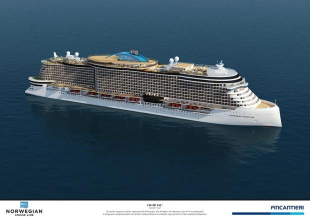 Les navires de 140 000 tonnes brutes accueilleront chacun environ 3 300 passagers - DR : NCL