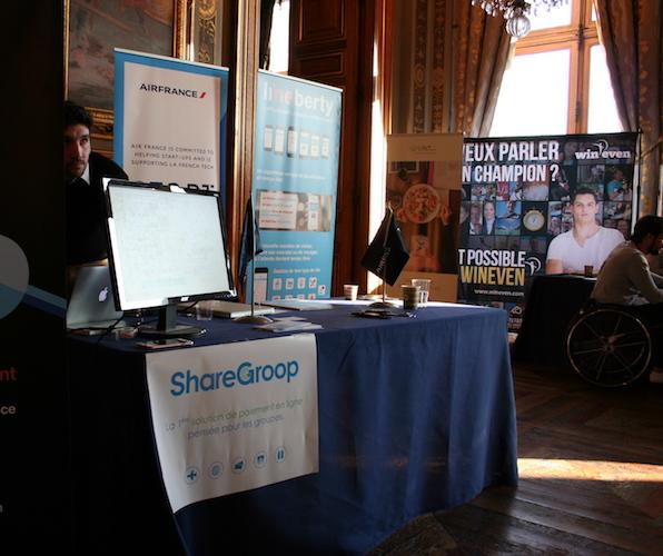 Le 16 mars 2017 au Hacking de l'Hôtel de Ville, ShareGroop était présent sur le démospace Air France (c) ShareGroop
