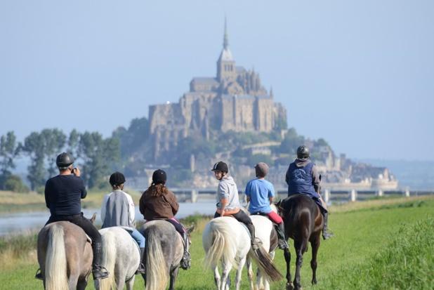 La Normandie est une région prisée par les touristes amateurs de randonnées équestres. DR: CRTE Normandie, simonphoto.fr