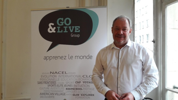 Jean Burdin, président du Groupe Go & Live lors de sa récente conférence de presse à Paris. Photo MS.