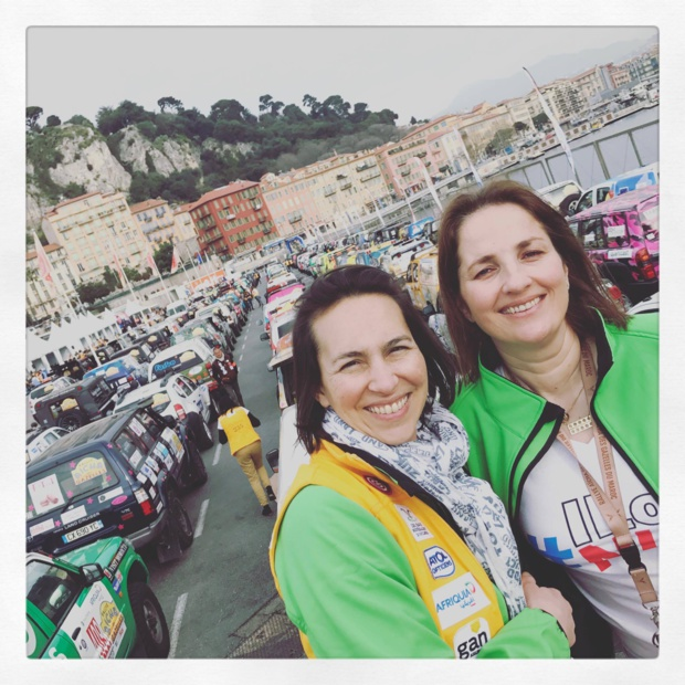 Caroline et Armelle sur la ligne de départ à Nice samedi - Photo AM